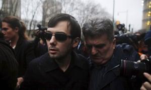 Martin Shkreli leaves court in New York