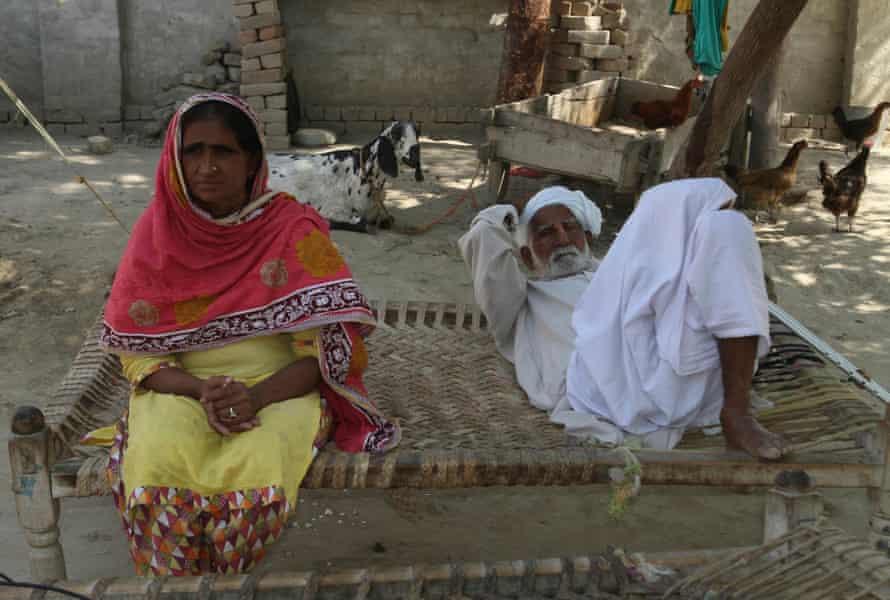 Murdered social media star Qandeel Baloch's parents at home in Shah Sadar Din in Punjab