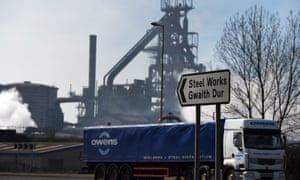 The Tata Steel plant in Port Talbot.