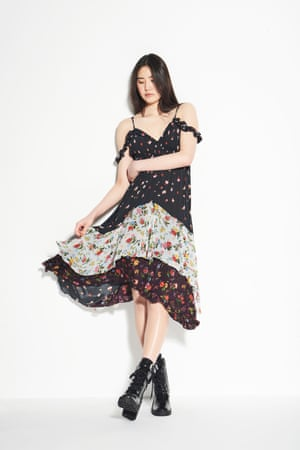 PRETTY TOUGH  Toughen a floaty floral dress with a pair of worker boots Boots £248, allsaints.com  Dress as before