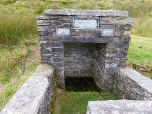 Ffynnon Eidda (Eidda's well), sturdily reconstructed in 1846