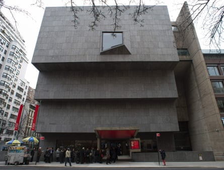 An exterior view of the Met Breuer, named after Marcel Breuer, who designed it.