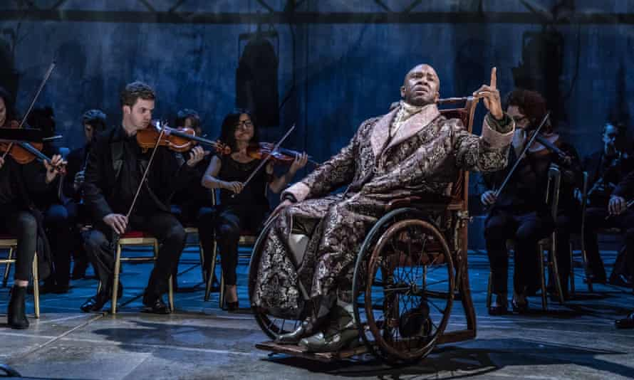 Lucian Msamati in Amadeus at the National Theatre.