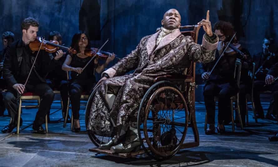 Lucian Msamati as Salieri in Amadeus at the National Theatre.