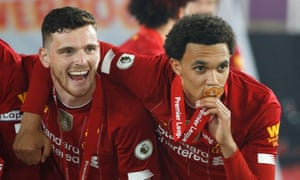 Liverpool's Andy Robertson (left) and Trent Alexander-Arnold – 'the best all-round throwers in the world'.