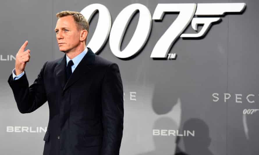 Daniel Craig in 2015, at the release of the last Bond film, Spectre.