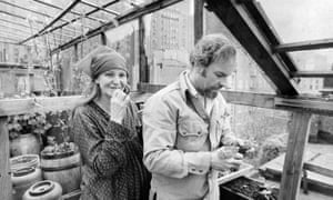 Husband and wife Rip Torn and Geraldine Page at home in New York on 28 April 1977