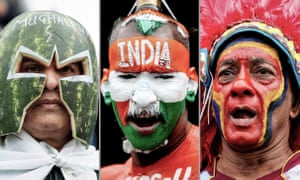 Pakistan, India and West Indies fans. Photographs by PA and Shutterstock.