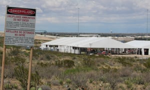 Two tents have been erected to house migrants on the outskirts of El Paso. The facility is expected to be operational by 1 May.