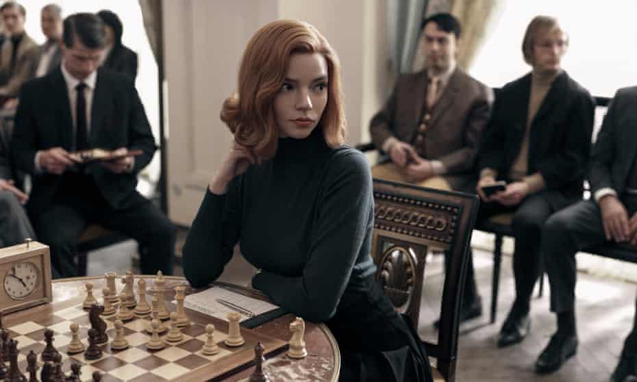 Anya Taylor-Joy as Beth Harman in The Queen's Gambit