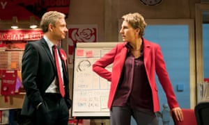 'It will stir a lot of emotions' … Martin Freeman and Tamsin Greig in Labour of Love.