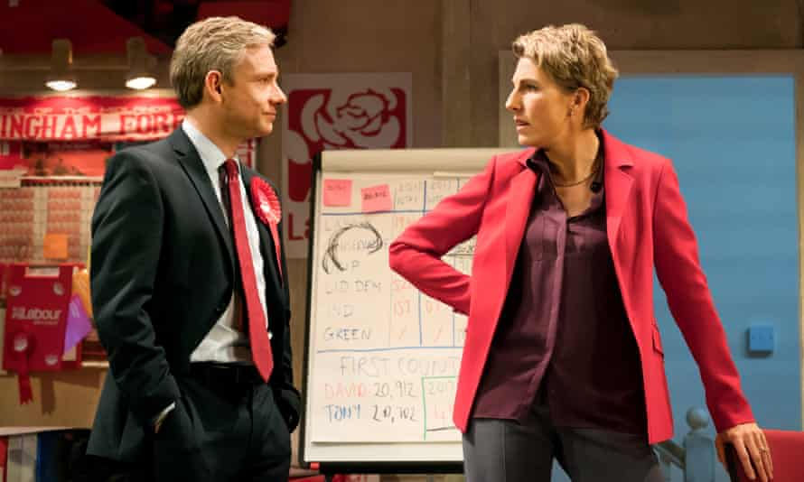 Martin Freeman and Tamsin Greig in Labour of Love.