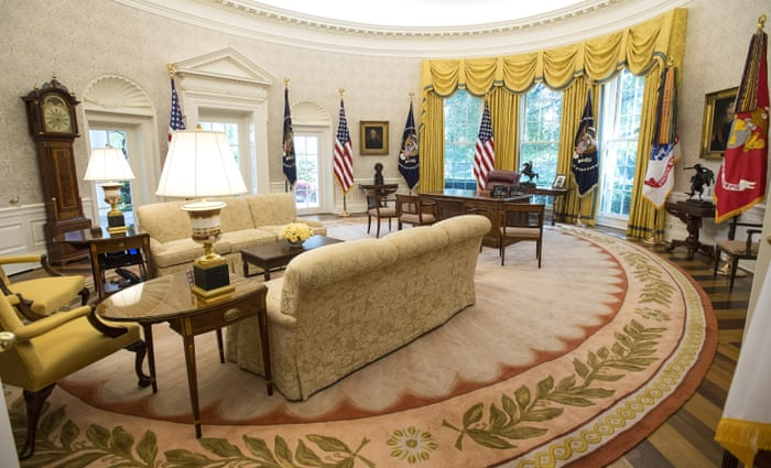 White House Reveals New Look And Trump Chose The Wallpaper In Pictures Us News The Guardian