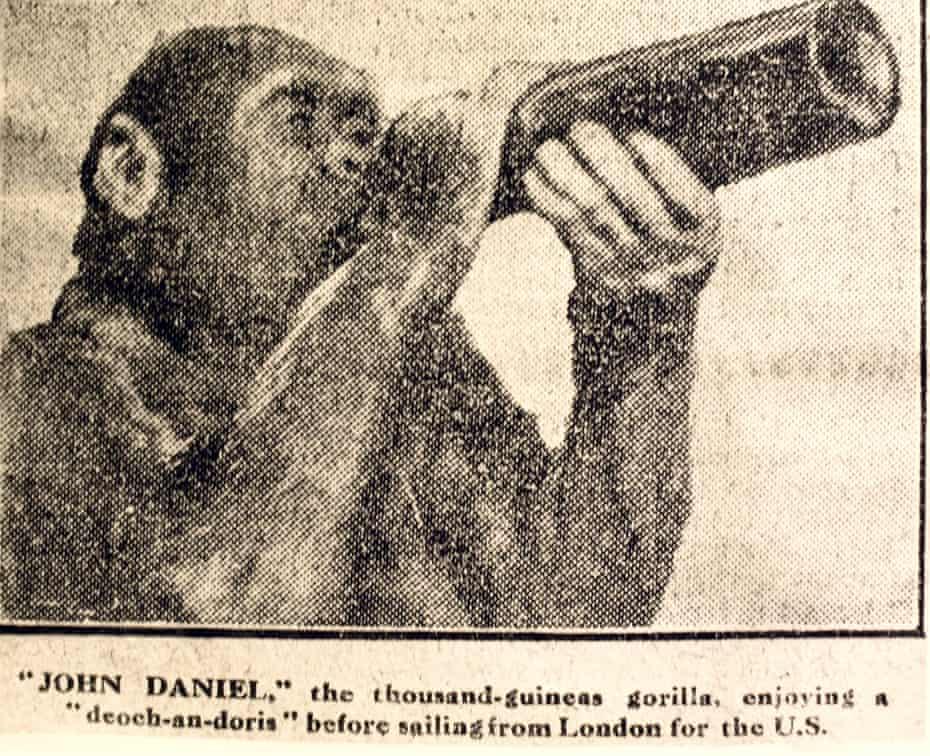 John Daniel enjoys a bottle of pop.