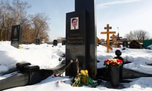 Flowers at the grave of anti-corruption lawyer Magnitsky in 2013.