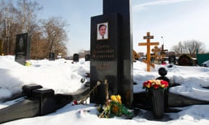 Flowers on the grave of anti-corruption lawyer Sergei Magnitsky