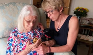 Claire Hamilton-Bate with her mother Marian Hamilton-Bate at her home in London last week.