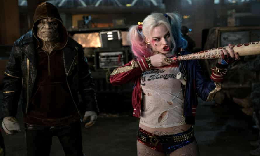 Bats ... Adewale Akinnuoye-Agbaje and Margot Robbie in Suicide Squad