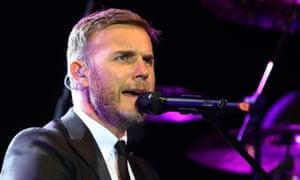 Gary Barlow singing