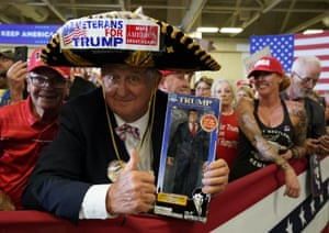 Fayetteville, US Supporters of Donald Trump attend a campaign rally in North Carolina