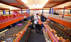 Cans of food on the aisles at easyFoodstore