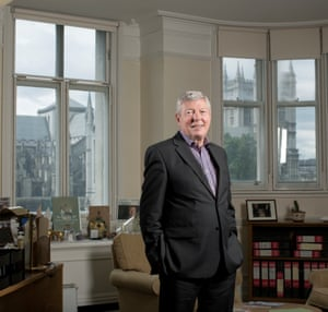 Alan Johnson in his former Westminster parliamentary office.