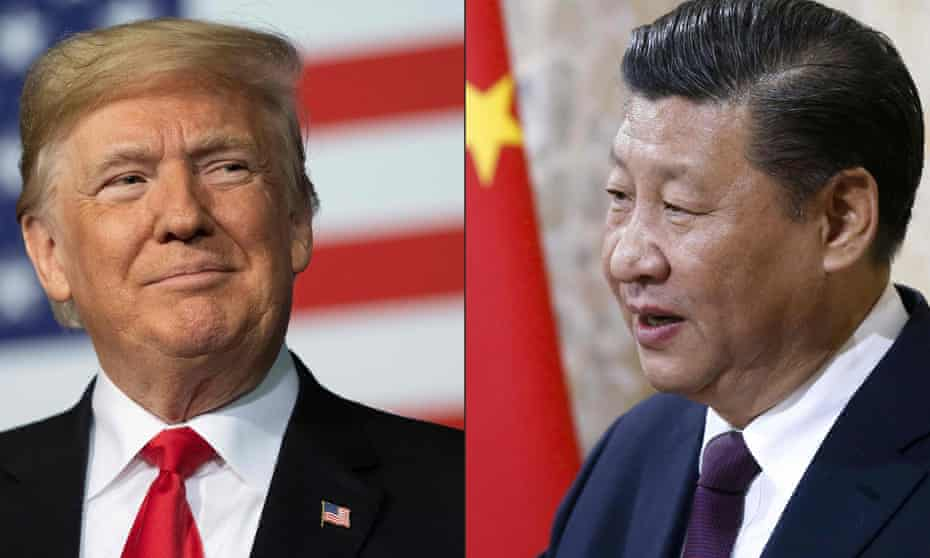A composite image showing US president Donald Trump and Chinese president Xi Jinping