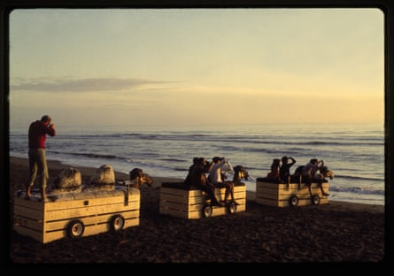 'Amphibious camels returning to Africa' at Bamba Issa in Forte dei Marmi, 1969.