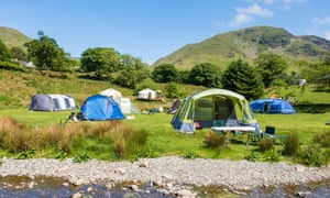 People camping at Syke Farm Campsite