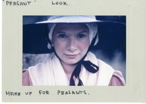 Colour photograph of make-up and costume tests for an extra, believed to have been taken in 1973.