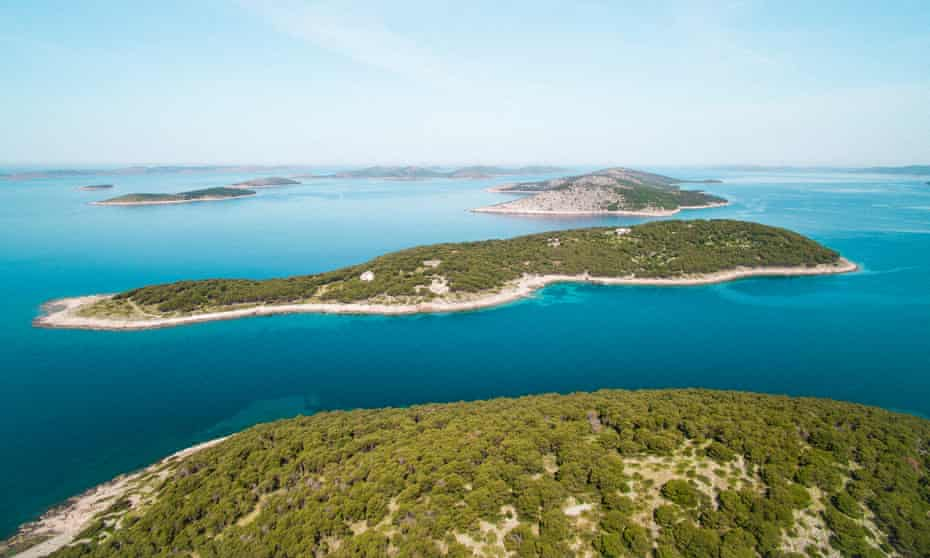 Tiny Obonjan island, off Šibenik, Croatia