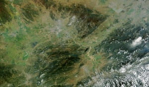Flooding of historic in the Yangtze River basin