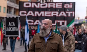 Gianluca Iannone at the 7 January CasaPound rally in Rome.