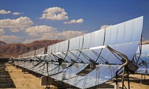 solar electricity Mojave desert California