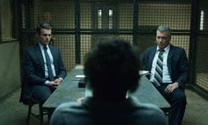 'Grating and sparking': Jonathan Groff, left, and Holt McCallany, right, in Mindhunter.