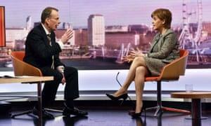 Nicola Sturgeon on the BBC's Andrew Marr Show.