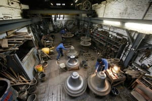 The Whitechapel Bell Foundry, which closed two years ago, pictured in 2008.