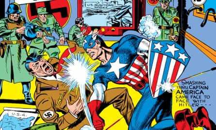 Captain America #1 1941, illustrated by Jack Kirby.