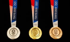 Tokyo 2020 Olympic medals on display after the One Year to Go ceremony on 24 July 2019.
