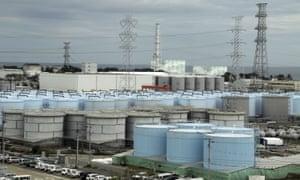 Water tanks at Japan's wrecked Fukushima nuclear plant