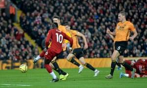 Liverpool's Sadio Mane nets.