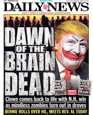 Donald Trump as the Joker on the New York Daily News