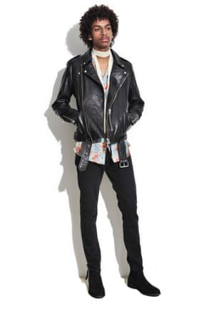 man in black leather jacket and black jeans