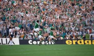 Ireland's players celebrate