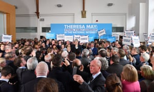 Theresa May among her audience at Shine.