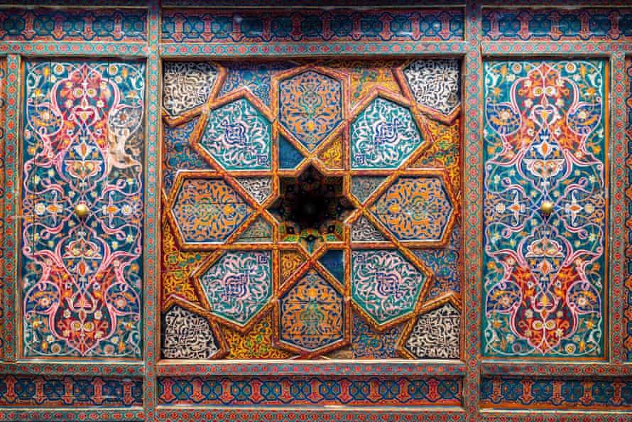 Ceiling details at the Tash Hauli Palace, Khiva