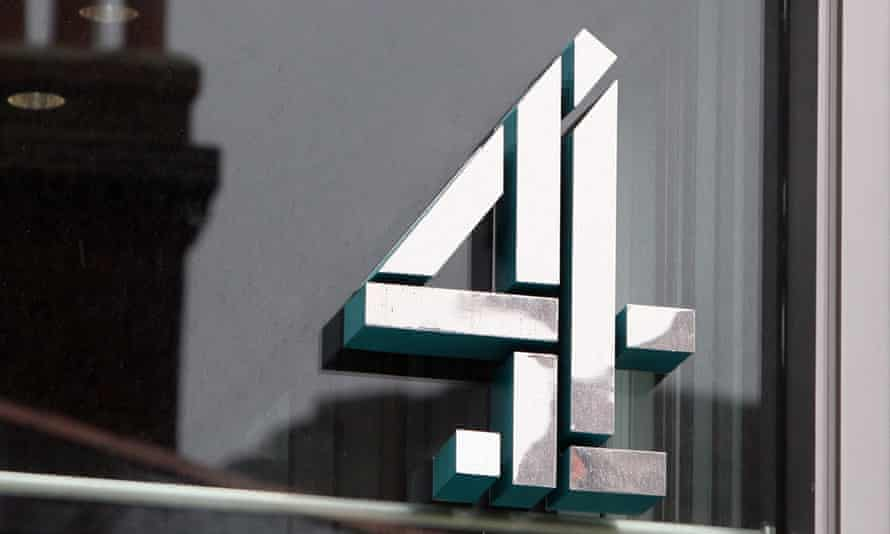 A sign is seen at the Channel 4 offices on Horseferry Road in London.