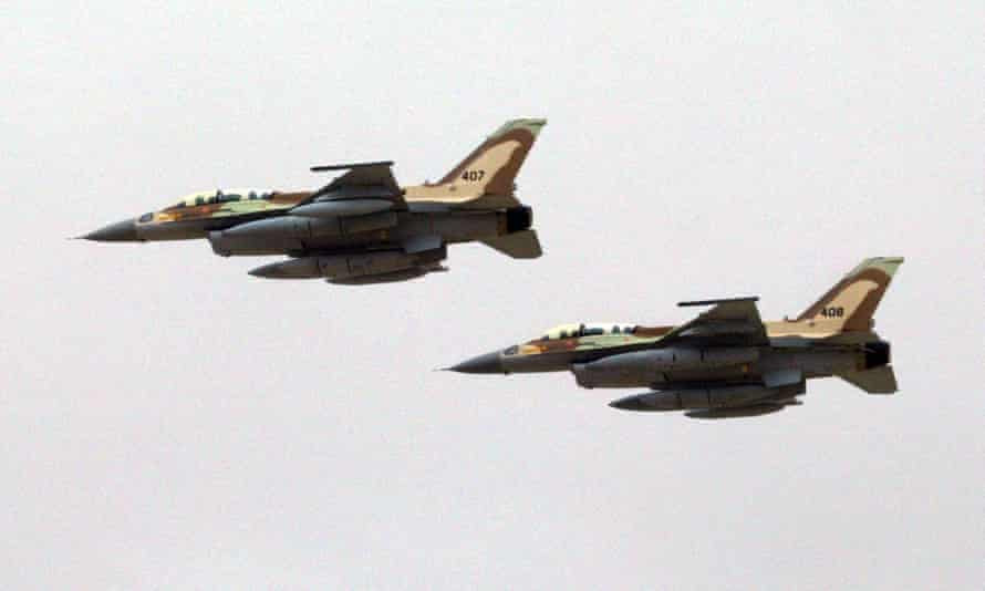 Two Israeli Air Force F-16I jet fighters