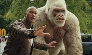 Rampage review – Dwayne Johnson tackles giant animals run
