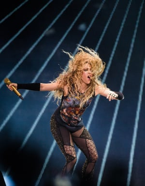 Lupine in her power and litheness ... Shakira.